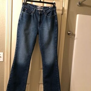 Tommy Hilfiger Women's Blue Jeans Hipster Boot Sz6
